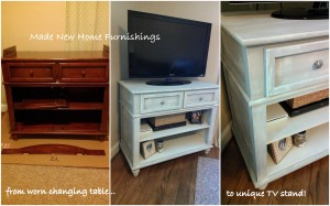 tv stand collage